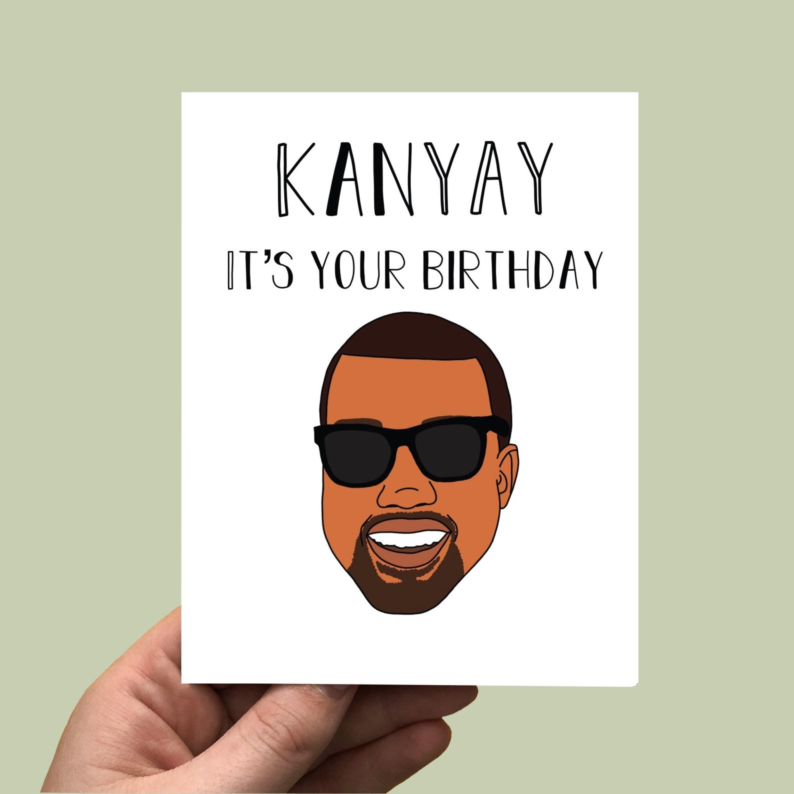 Kanye West Birthday Card