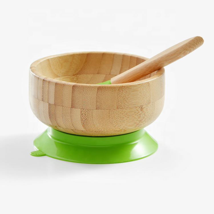 Bamboo Baby Plates and Bowls with Suction