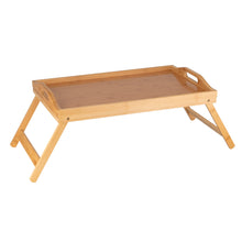 Load image into Gallery viewer, Bamboo Bed Tray with Folding Leg