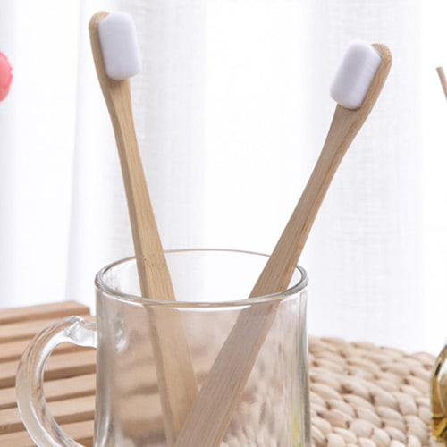 Nano antibacterial super soft Bamboo Toothbrush