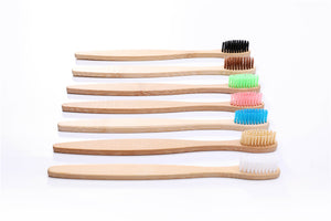 Pointed End Flat Body Bamboo Toothbrush