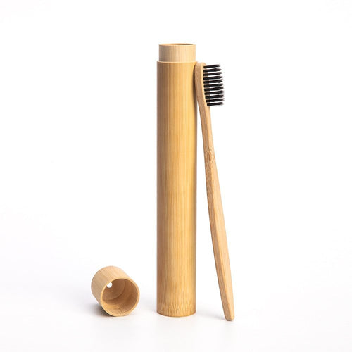 Panda Bamboo Toothbrush Tube