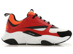 DIOR B22 SNEAKERS RED/WHITE - The Edit Man London Online
