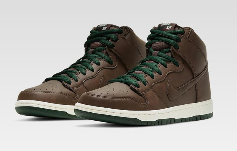 NIKE SB DUNK HIGH BAROQUE BROWN SAIL AND FUR - The Edit Man London Online