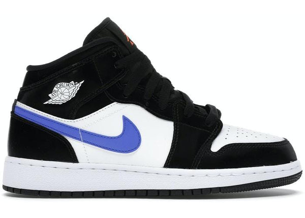 JORDAN 1 MID BLACK RACER BLUE WHITE - The Edit Man London Online