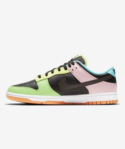 NIKE DUNK LOW FREE 99 ASYMMETRIC BLACK MULTI - The Edit Man London