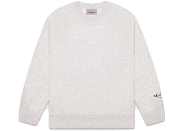 FEAR OF GOD ESSENTIALS CORE PULLOVER CREWNECK GREY - The Edit Man London Online