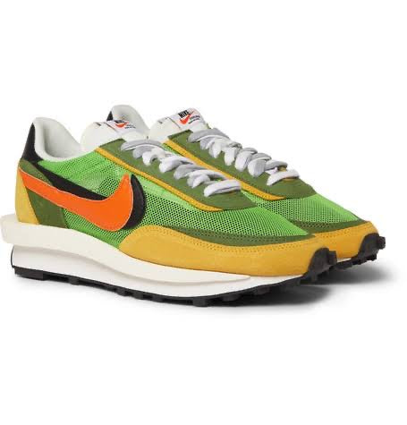 NIKE LD WAFFLE SACAI GREEN MULTI - The Edit Man London Online