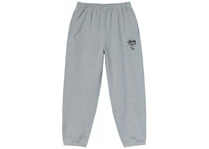 NIKE X STUSSY INTERNATIONAL SWEATPANTS HEATHER GREY - The Edit Man London Online