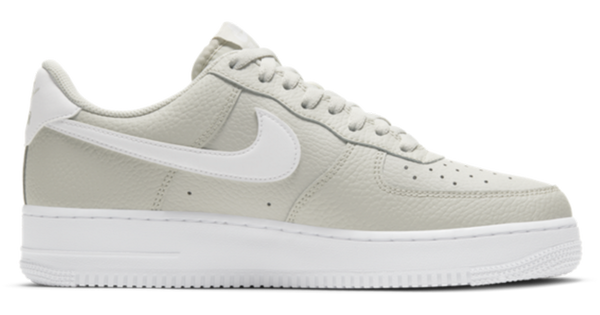 NIKE AIR FORCE 1 LOW LIGHT BONE/WHITE - The Edit Man London