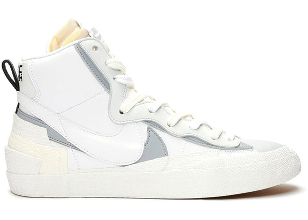 NIKE BLAZER MID SACAI WHITE GREY - The Edit Man London Online
