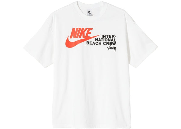 NIKE X STUSSY INTERNATIONAL BEACH CREW T-SHIRT WHITE - The Edit Man London Online