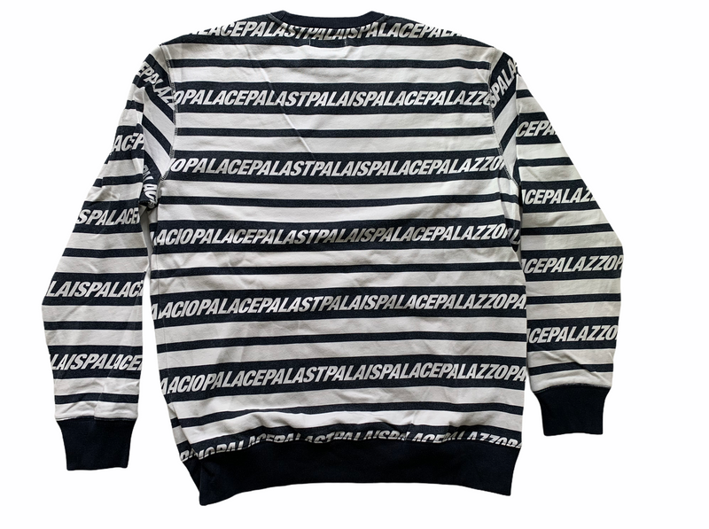 PALACE MULTI LINGUAL CREW NAVY/WHITE