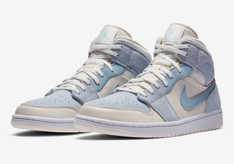 JORDAN 1 MID MIXED TEXTURES BLUE - The Edit Man London Online