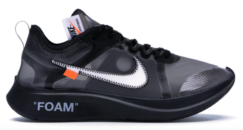 NIKE ZOOM FLY OFF-WHITE BLACK SILVER - The Edit Man London Online