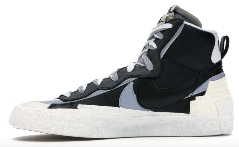 NIKE BLAZER MID SACAI BLACK GREY - The Edit Man London Online