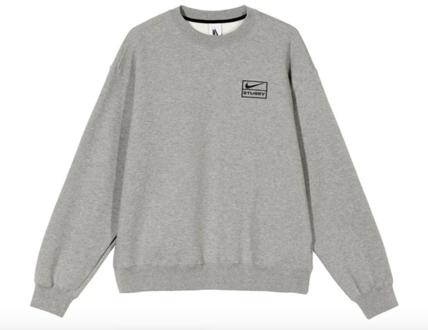 NIKE X STUSSY CREW FLEECE GRAY - The Edit Man London Online