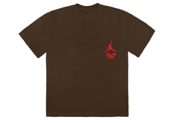 JORDAN TRAVIS SCOTT CACTUS JACK HIGHEST BROWN T-SHIRT - The Edit Man London Online