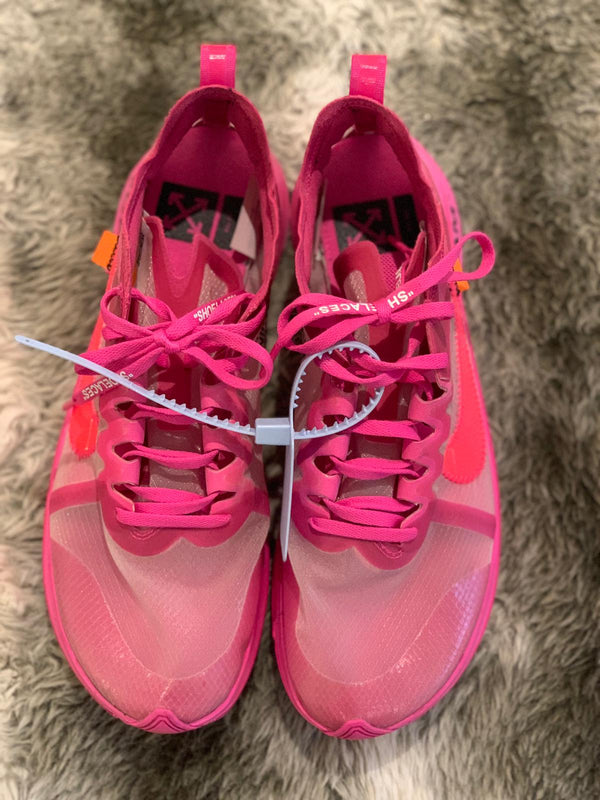 NIKE X OFF WHITE ZOOM FLY PINK - The Edit Man London Online