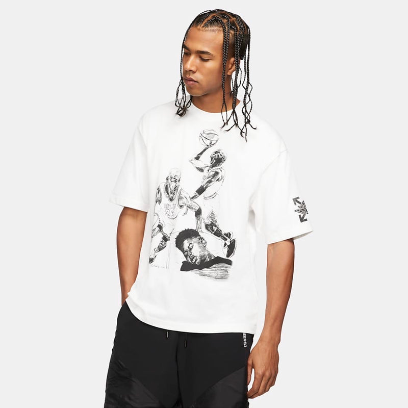 OFF-WHITE X JORDAN SCRIBBLE T-SHIRT - The Edit Man London Online
