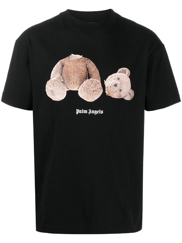 PALM ANGELS TEDDY BEAR T-SHIRT BLACK - The Edit Man London Online