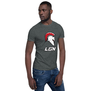 Legion Text and Helm Short-Sleeve Unisex T-Shirt