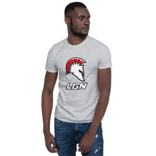 Load image into Gallery viewer, Legion Text and Helm Short-Sleeve Unisex T-Shirt