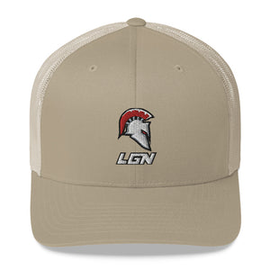 Legion Helm and Text Trucker Cap
