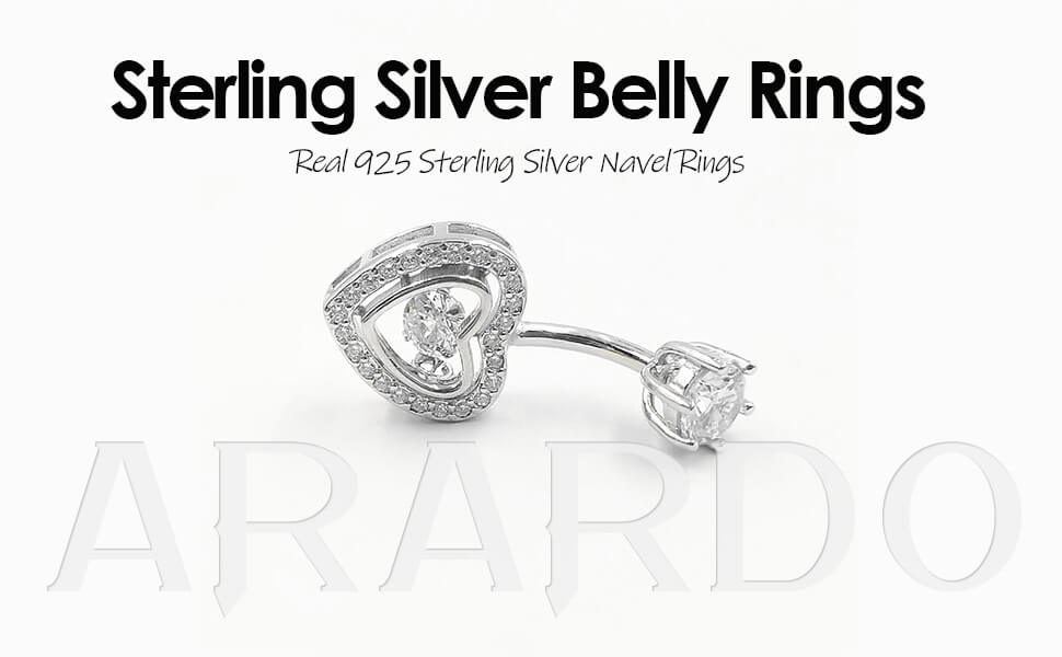 Arardo 925 Sterling Silver Belly Button Rings AB0088
