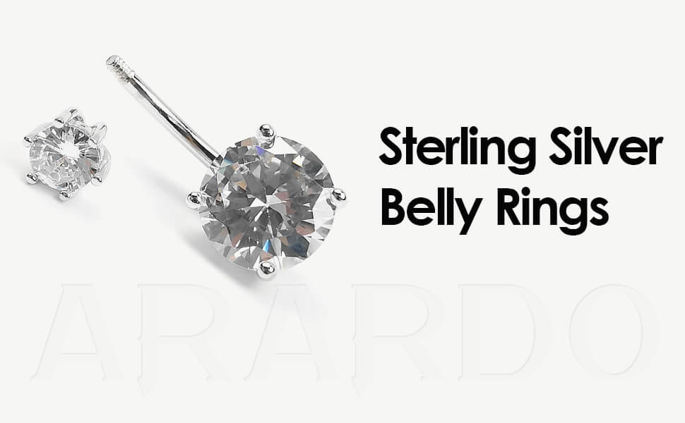 Arardo 925 Sterling Silver Belly Button Rings AB0090