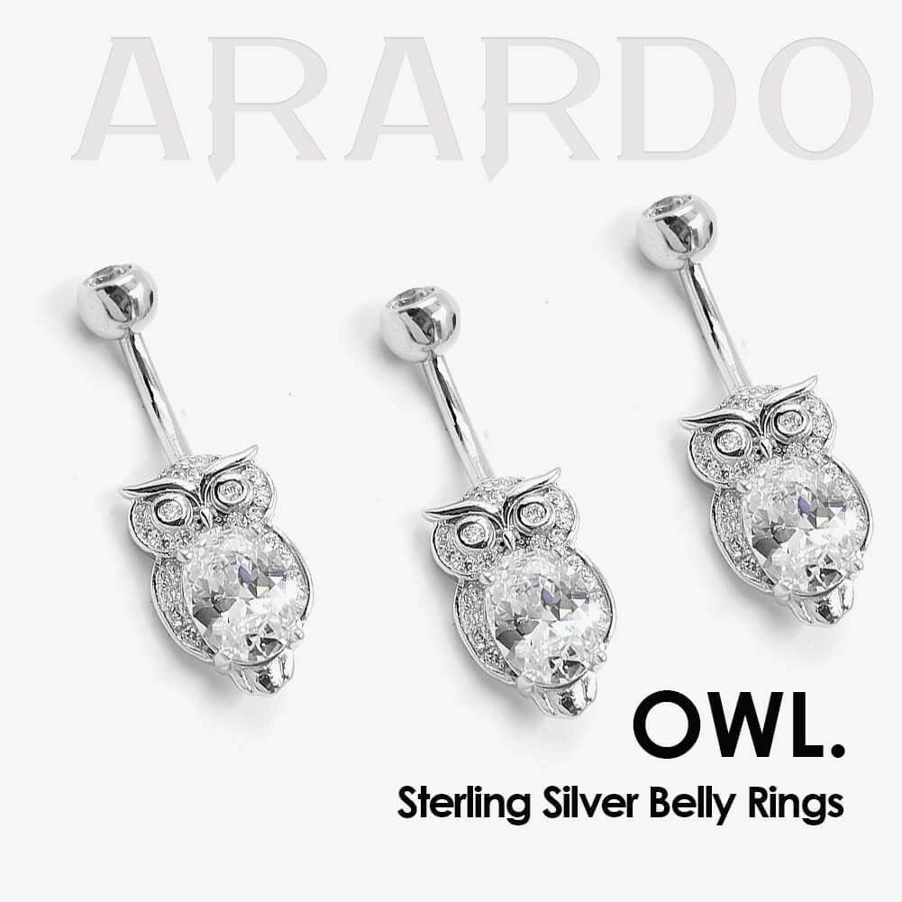 Arardo 925 Sterling Silver Belly Button Rings AB0092