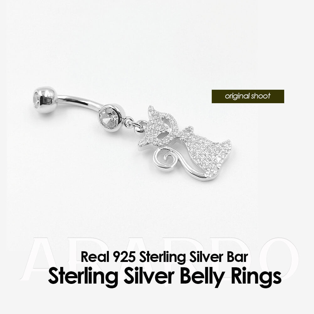 Arardo 925 Sterling Silver Belly Button Rings AB0093