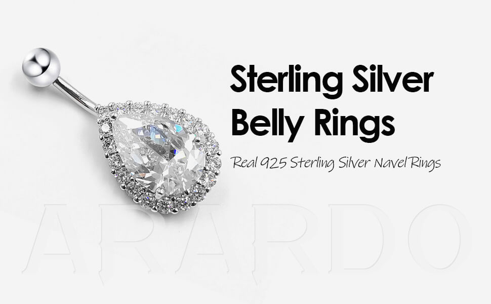 Arardo 925 Sterling Silver Belly Button Rings AB0121