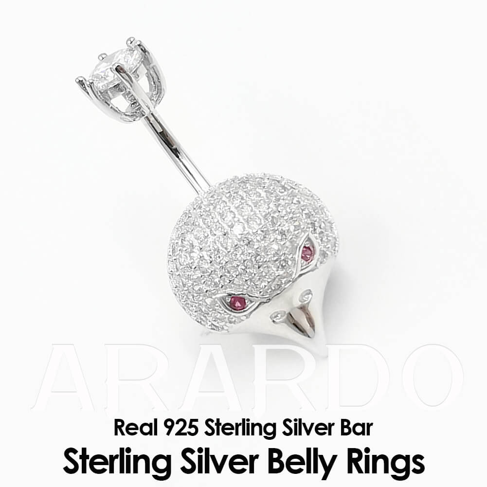 Arardo 925 Sterling Silver Belly Button Rings AB0126