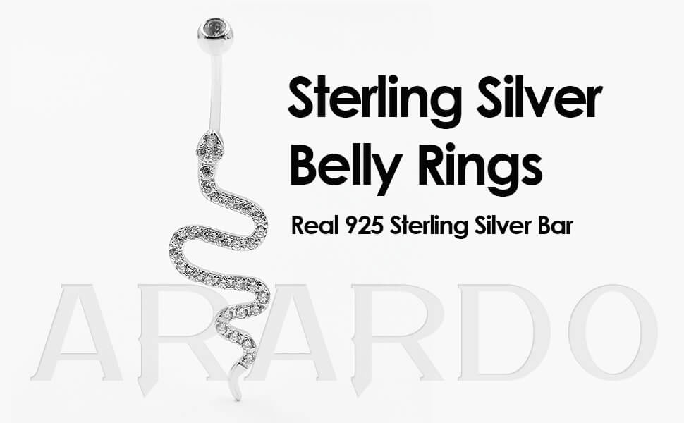 Arardo 925 Sterling Silver Belly Button Rings AB0144