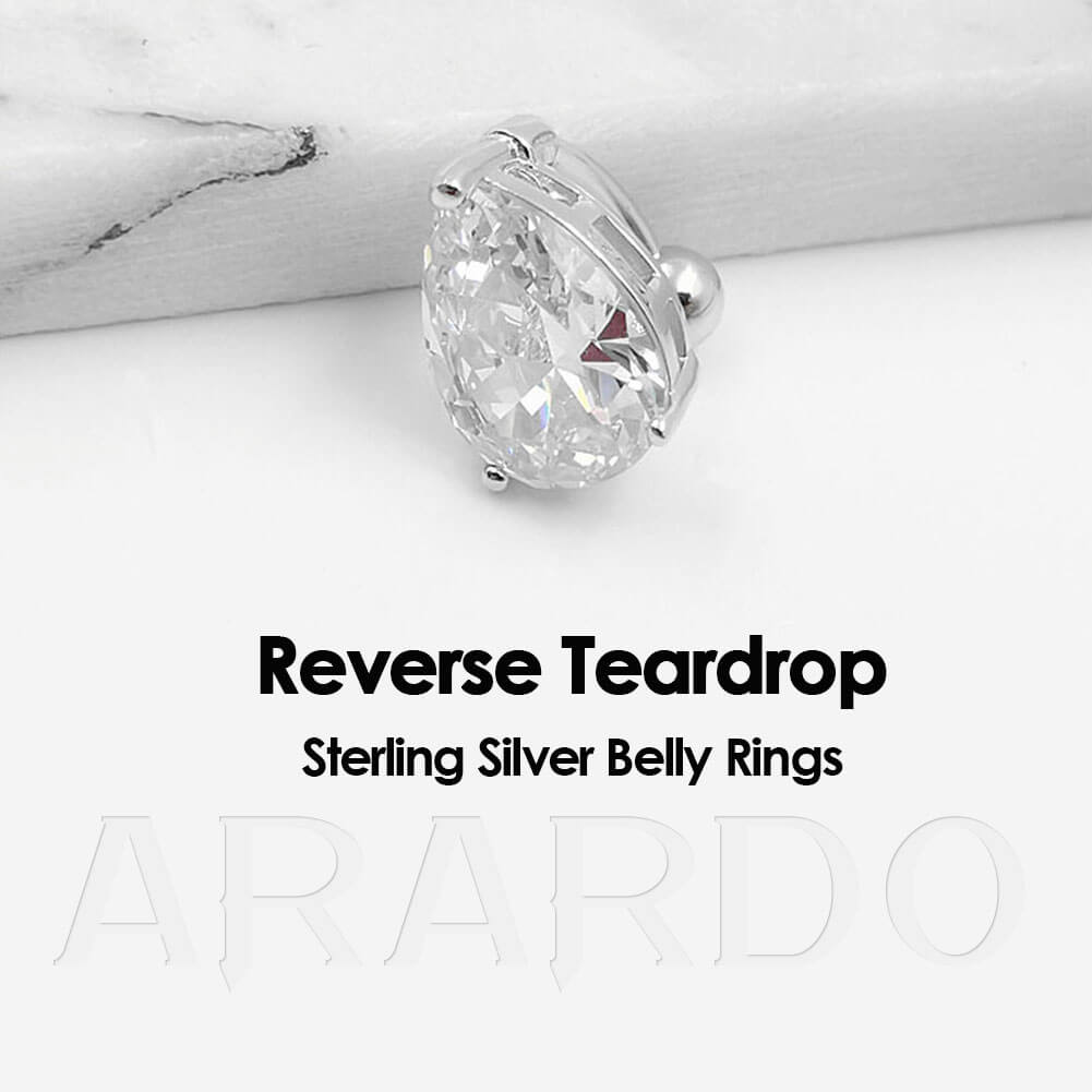 Arardo 925 Sterling Silver Belly Button Rings SS3