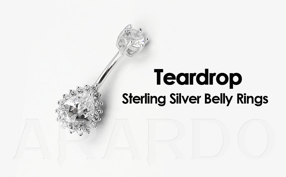Arardo 925 Sterling Silver Belly Button Rings SS4