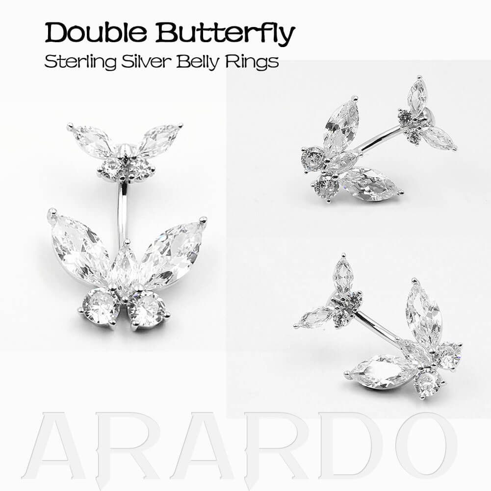 Arardo 925 Sterling Silver Belly Button Rings SS5