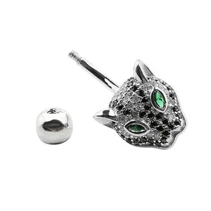 Arardo 14G 925 Sterling Silver CZ Animal Leopard Belly Button Rings Navel Rings Piercing Jewelry AB0098