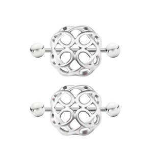 Arardo 1Pair 14G 316L Stainless Steel Heart CZ Nipple Tongue Rings Nipplle Piercing Jewelry AB0100
