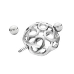 Load image into Gallery viewer, Arardo 1Pair 14G 316L Stainless Steel Heart CZ Nipple Tongue Rings Nipplle Piercing Jewelry AB0100