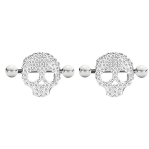 Arardo 1Pair 14G 316L Stainless Steel Heart CZ Nipple Tongue Rings Nipplle Piercing Jewelry