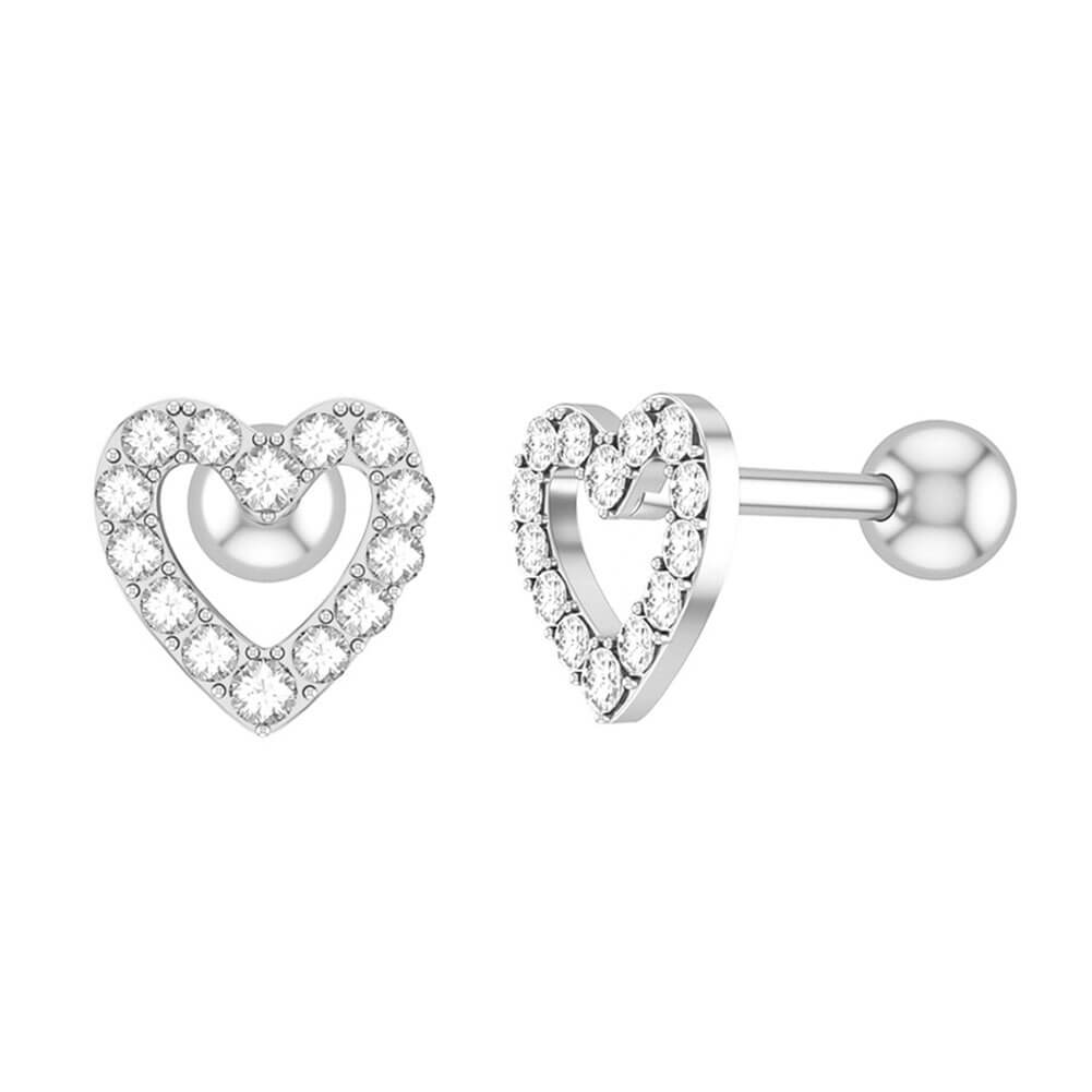 Arardo 2pcs 16G 316L Stainless Steel Ear Cartilage Earrings Lobe Studs Conch Piercing Jewelry