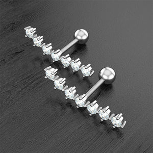 2pcs 16G 316L Stainless Steel Ear Cartilage Earrings Helix Industrial Studs Rings
