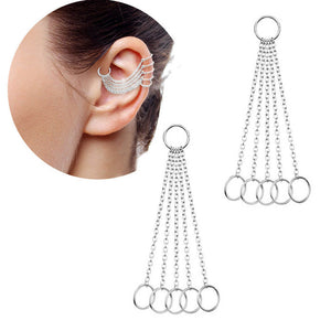 Arardo 20G 316L Stainless Steel Ear Cartilage Helix Industrial Rings Body Piercing Jewelry