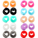 Load image into Gallery viewer, Arardo 20Pcs Colorful Soft Silicone Ear Gauges Plugs Heart Stretching Kit Double Flared Expander Tunnels Body Piercings Jewelry