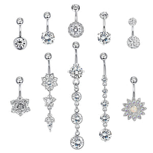 Arardo Belly Button Rings Set 14G Navel Rings 316L Stainless Steel Belly Piercing Jewelry BR22