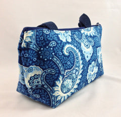 Little Falls Indigo Clutch