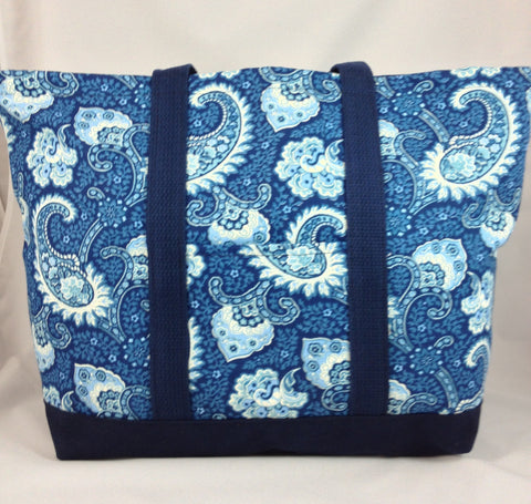 Little Falls Indigo Large Tote