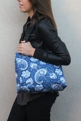 Little Falls Indigo Small Shopper - Model